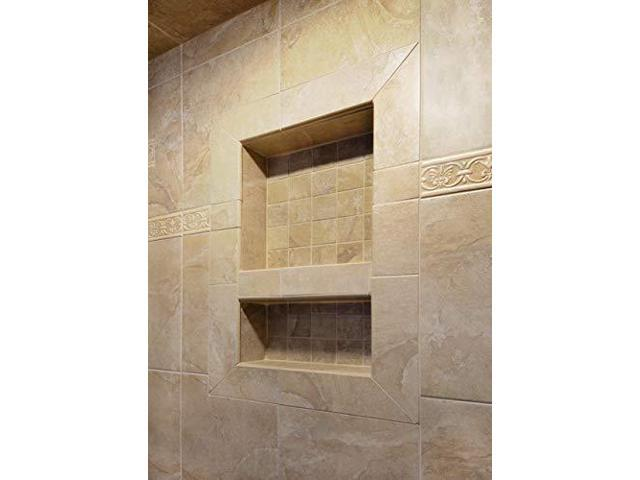 """Ready to Tile Large Single Recessed Shower Niche 25/"""" x 17/"""" x 3.75/"""""""