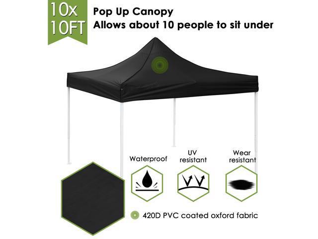 10x10Ft EZ Pop Up Folding Party Wedding Tent Canopy Gazebo Commercial  Instant Shelter - Newegg com