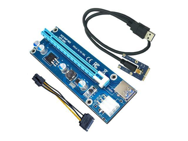 40cm USB3.0 PCI-E PCI Express 1x to16x Extender Riser Card Adapter Powered Cable