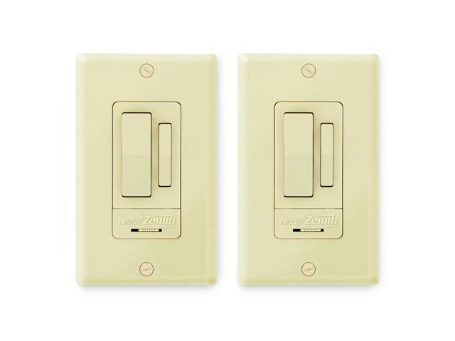 Heath Zenith Indoor 3-Way Wall Switch (2 Pack), Ivory - Newegg.com