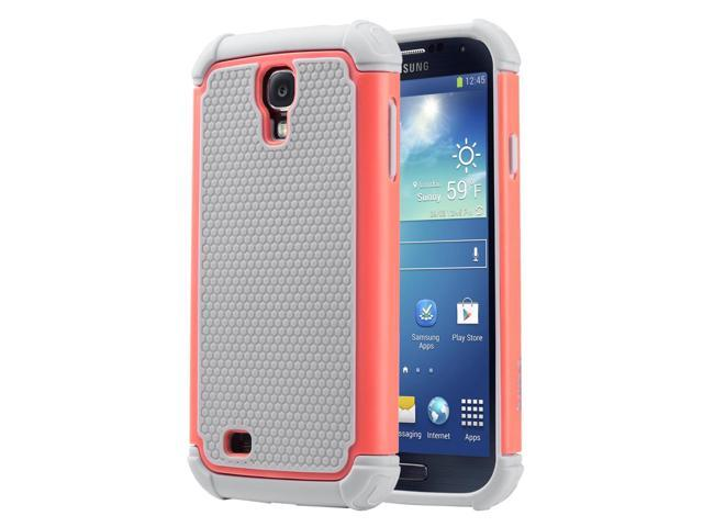 new styles cd857 3968b ULAK Galaxy S4 Slim Case, Shock Absorbing Hybrid Rubber Plastic Impact  Rugged Slim Hard Case Cover Shell for Samsung Galaxy S4 S IV I9500 GS4 All  ...