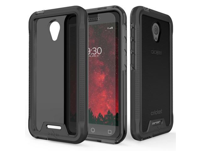 For Alcatel Idealxcite 5044 - ION Triple Layered Case - Black/Smoke -  Newegg com