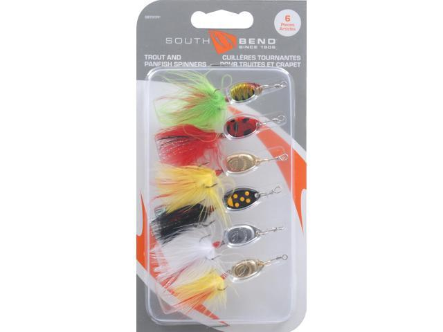 south bend lunker 6 piece spinner kit bait fishing