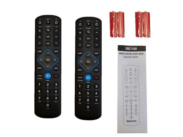 2 Spectrum Cable Box Remote Controls URC1160 -New -Instructions Included -  Newegg com