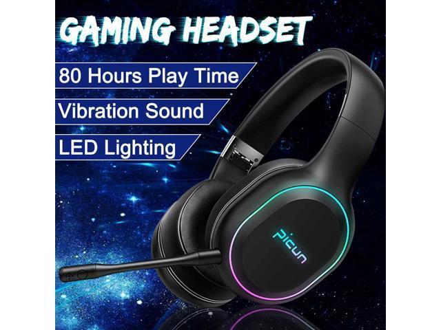 Bluetooth Over Ear Headphones Rgb Led Vibration Stereo Deep Bass Surround Sound Wireless Gaming Headset Earphone For Gamer Pc Newegg Com