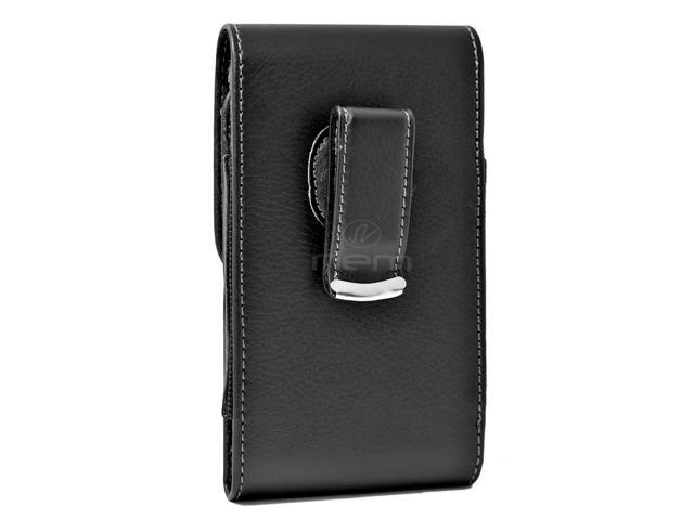 best loved 4018f fde12 Vertical Leather Pouch Carrying Case with Swivel Belt Clip Holster  Compatible with XOLO Era 4G Devices - (Fits With Otterbox Defender,  Commuter, ...