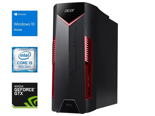 Acer Nitro 50 Desktop Intel 6 Core I5 8400 Upto 4 0ghz 8gb Ram 512gb Nvme Ssd 1tb Hdd Nvidia Geforce Gtx 1060 6gb Dvdrw Hdmi Displayport Dvi Card Reader Wi Fi Bluetooth Windows 10