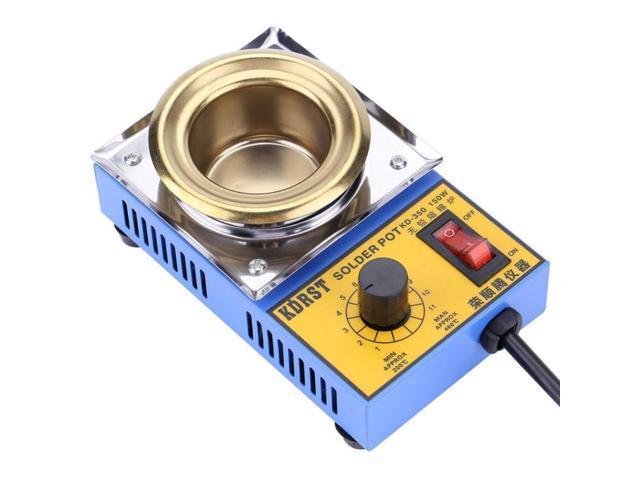 Dia 50mm Solder Pot Soldering Desoldering Bath 200-480℃ Celsius Titanium Plate