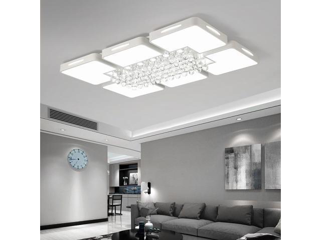 108w Living Room Simple Modern Led Ceiling Lamp Crystal Light 120 X 80cm White Light Newegg Com