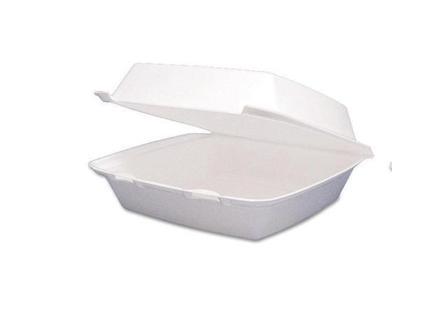 Dart Carryout Food Container Foam Hinged 1-Comp 9 1/2 x 9 1/4 x 3  200/Carton - Newegg com