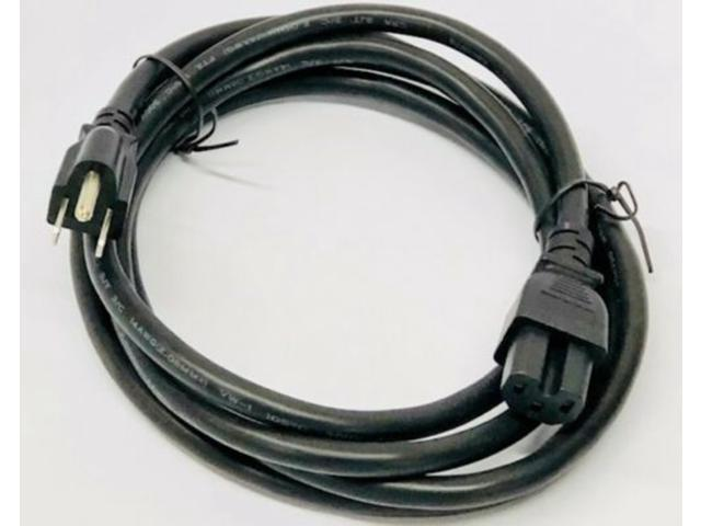 C2G 24908 Replacement TV Power Cable C13 to NEMA 5-15 1.5 Feet, 0.45 Meters