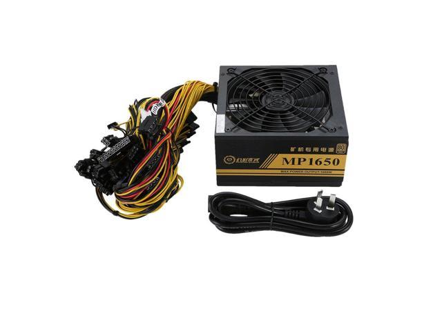 1600W Modular Power Supply For 6 GPU Eth Rig Ethereum Coin Mining Miner  Machine with Low Noise Cooling Fan - Newegg com