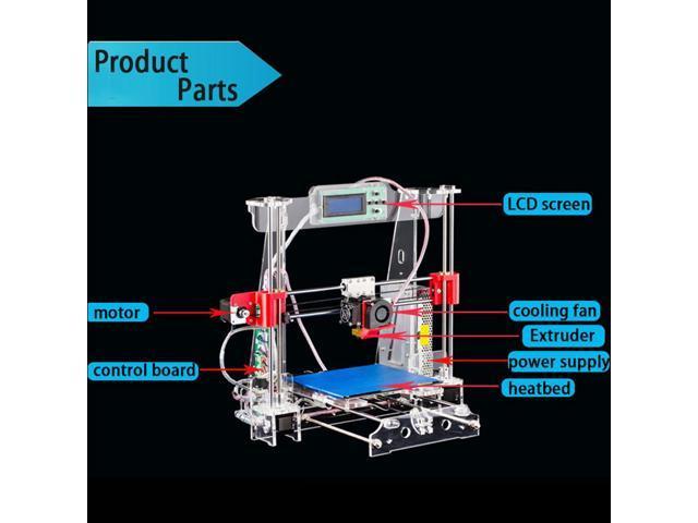 TRONXY P802M DIY 3D Printer Kit 220220240mm Printing Size LCD Screen  Support Off-line Print 1 75mm 0 4mm US Plug - Newegg com