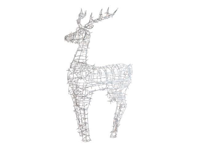 Lighted Standing Reindeer Outdoor Christmas Decoration W