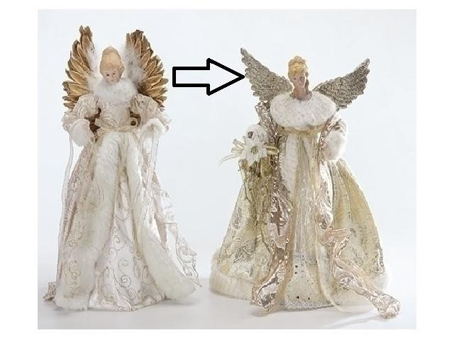 16 5 Graceful Golden Angels Christmas Tree Topper Unlit Newegg Com