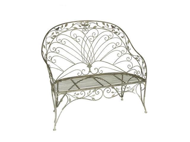 Tremendous 48 Metal Garden Vineyard Weathered Finish Outdoor Patio Loveseat Bench Newegg Com Andrewgaddart Wooden Chair Designs For Living Room Andrewgaddartcom