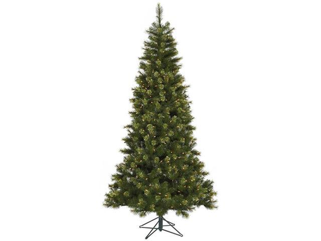 7.5' Pre-Lit Jack Pine Slim Artificial Christmas Tree