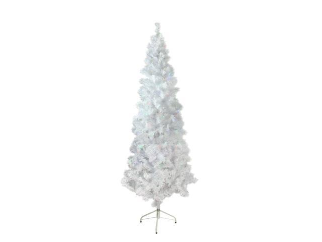 6 5 Pre Lit Pencil White Winston Pine Artificial Christmas Tree Multi Led Lights