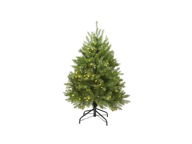 4' Pre-Lit Northern Pine Full Artificial Christmas Tree