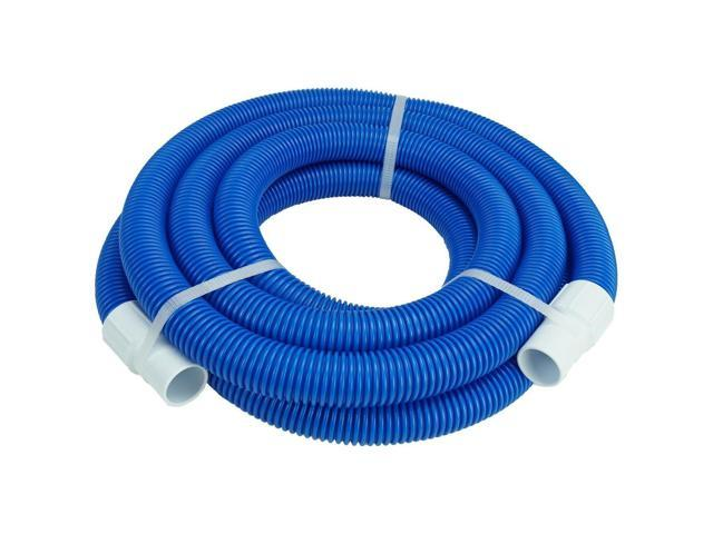 Blue Blow Molded PE Swimming Pool Vacuum Hose With White Cuffs 21\' x 1.25\