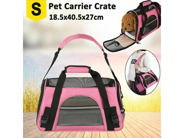 Terrific Js Foldable Pet Carrier Dog Puppy Cat Cage Crate Carring Travel Bag Backpack S L Us Small Pink Newegg Com Machost Co Dining Chair Design Ideas Machostcouk