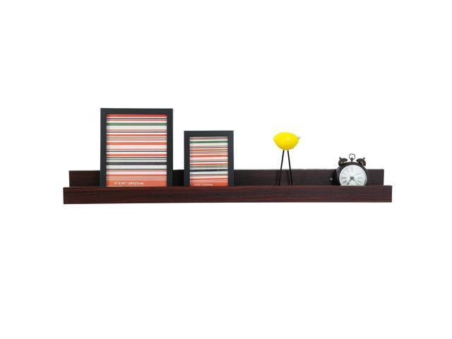 Js Wood Wall Shelves 1pcs Shelf Display Floating Storage Furniture Home Decor New Dark Newegg