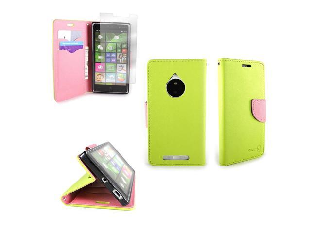 CoverON for Nokia Lumia 830 Wallet Case - Green & Pink Credit Card Folio  Cover - Newegg com