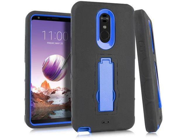 For LG Stylo 4 Black Blue Heavy Duty Stand Phone Cases - Newegg com