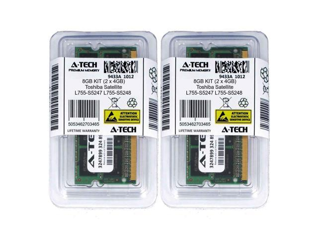 8GB KIT 2 x 4GB Toshiba Satellite L755-S5351 L755-S5353 L755-S5354 Ram Memory