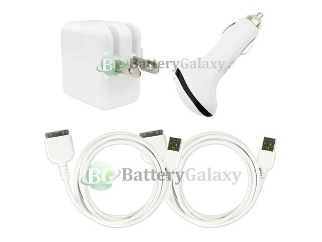 2 USB Cable+Car+RAPID Wall Charger for Apple iPad 1 2 3 1st 2nd 3rd GEN 200+SOLD