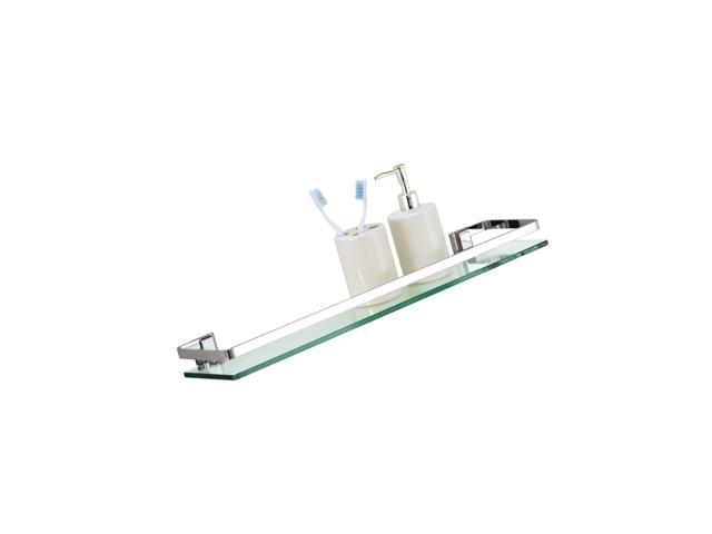 Brilliant Organize It All Wall Mounting Bathroom Glass Shelf With Chrome Finish And Rail Newegg Com Download Free Architecture Designs Scobabritishbridgeorg