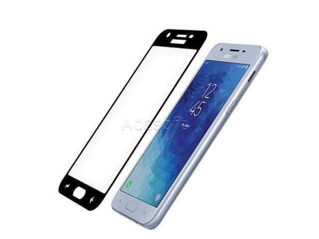 Black Tempered Glass Screen Protector f Cricket Samsung Galaxy Amp Prime 3  J337A - Newegg com
