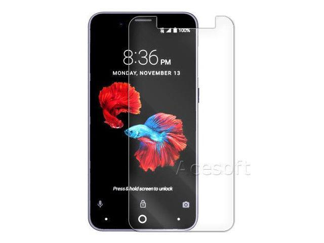 Real Premium Tempered Glass Screen Protector for ZTE ZFIVE G LTE Z557BL  Phone - Newegg com