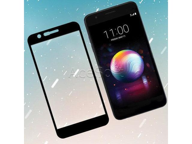 Heavy-Duty Tempered Glass Screen Protector for LG Premier Pro LTE L414DL  (Black) - Newegg com