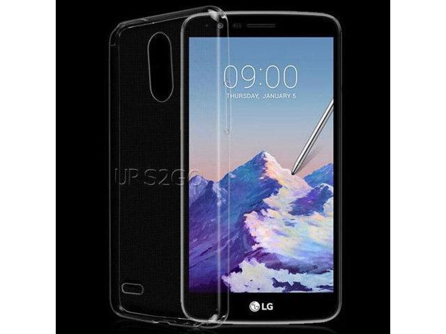 low priced df7bc b8cd8 Transparent Clear Crystal Silicone Case Skin Shell for T-Mobile LG Stylo 3  Plus - Newegg.com
