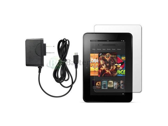 NEW Wall Charger+LCD Screen Protector for Amazon Kindle Fire HD 7 0