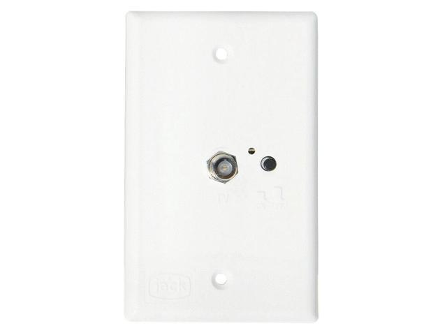king jack pb1000 tv antenna power injector switch plate - white
