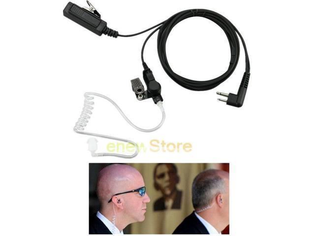 Screw HD Acoustic Covert Headset Mic for ICOM 2 Pin