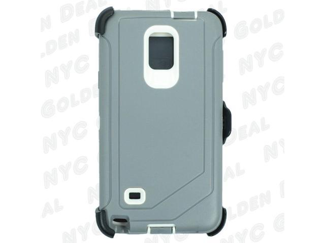 sports shoes 7cf0f ca159 Gray White For Samsung Galaxy Note 4 Defender Case with Clip fits Otterbox  - Newegg.com