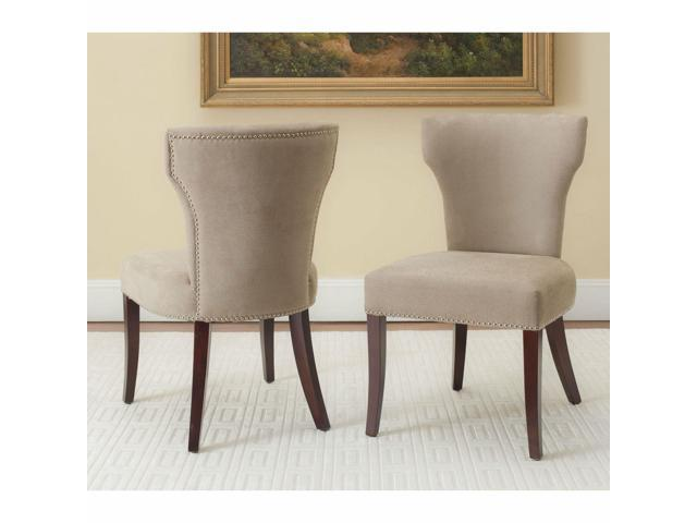Fabulous Safavieh En Vogue Dining Matty Dark Wheat Tan Nailhead Dining Chairs Set Of 2 Newegg Com Gmtry Best Dining Table And Chair Ideas Images Gmtryco