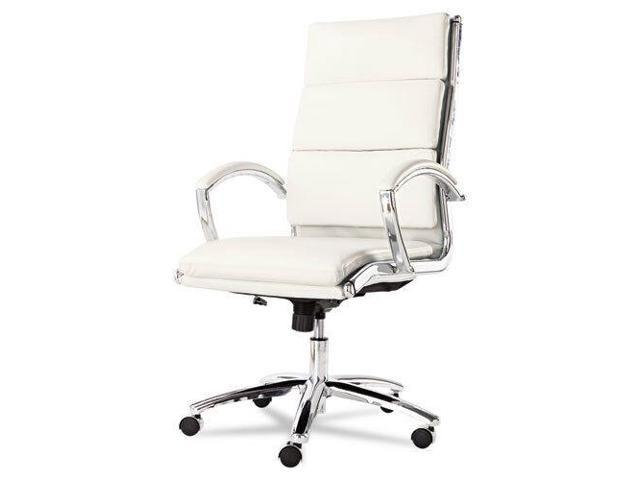 High Back White Leather Office Chair with Padded Arms - Newegg.com