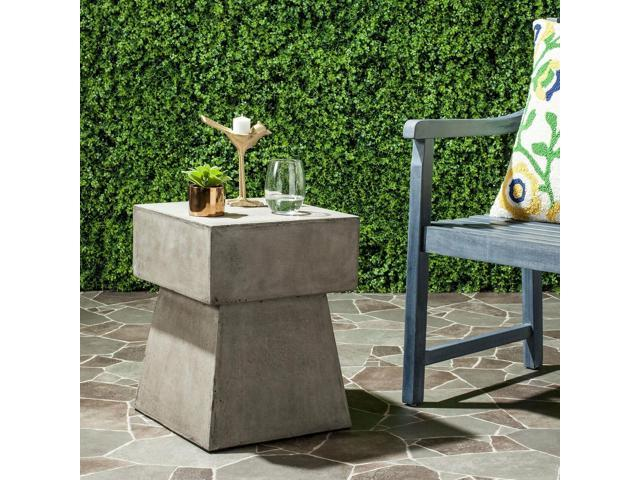 Groovy Safavieh Zen Mushroom Concrete Indoor Outdoor Accent Table Dark Grey 13 7 Newegg Com Download Free Architecture Designs Crovemadebymaigaardcom