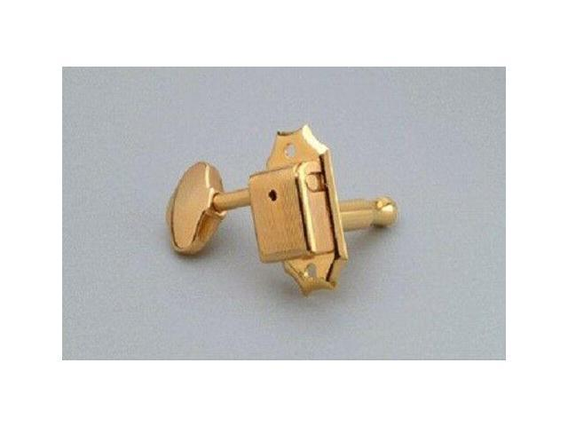 Metal Oval Buttons NEW 3x3 Vintage Style Tuning Keys GOLD
