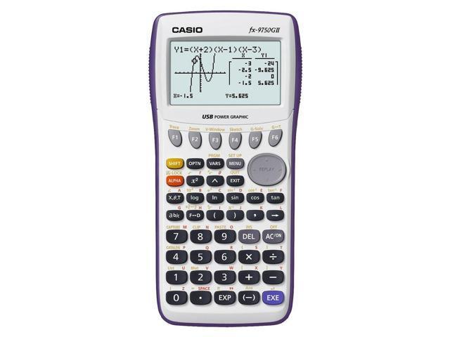 Casio fx-9750GII Graphing Calculator White FX9750GII-WE - & Sealed! -  Newegg com