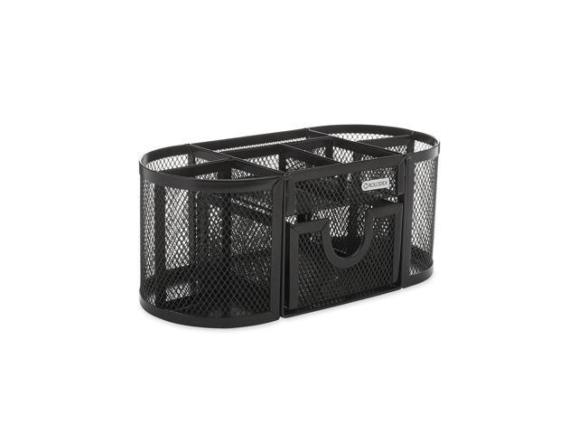 """9 1//3/""""x4 1//2/""""x4/""""... Steel Four Compartments Rolodex Mesh Pencil Cup Organizer"""