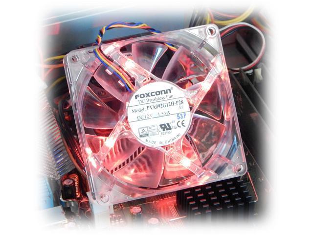 HP Red LED 12VDC 92x25mm 4-Pin FAN New 656329-001 PVA092G12H-P28