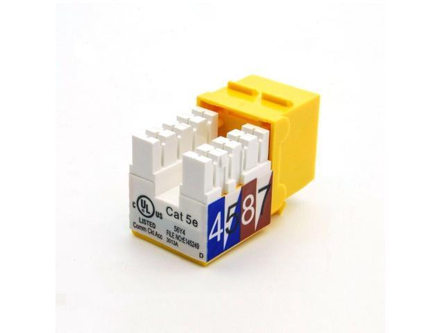 12x Cat5E RJ45 Ethernet LAN Network Keystone Jack 110 Punch Down Snap-in Yellow