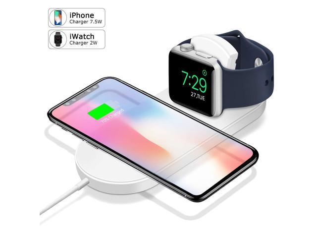 online store 90888 9c36e Wireless Charger, Apple Watch Charger Magnetic Wireless Charger 2-in-1 Pad  Stand Cable Compatible with Apple Watch Series 1/2/3/4 and iPhone XS ...