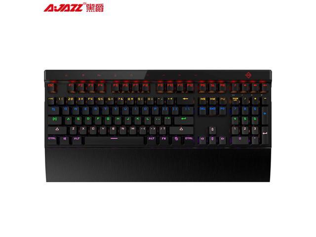 Touch Multimedia Buttons White Ajazz AK500 Mechanical Gaming Keyboard Removable Wrist Rest Blue Switches Colorful Backlit