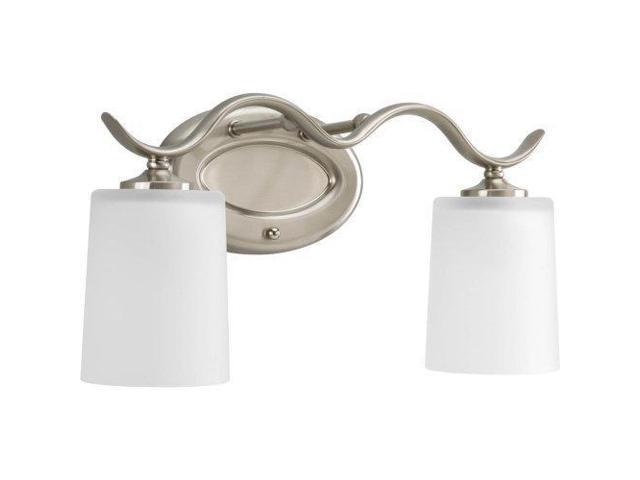 Progress Lighting Rizu Collection 3 Light Brushed Nickel: Progress Lighting P2019-09 Inspire Collection 2-Light